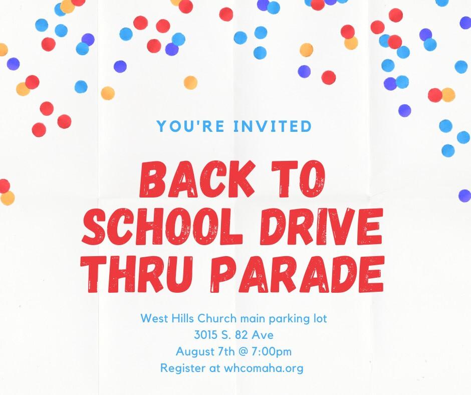 Back to School Drive Thru Parade