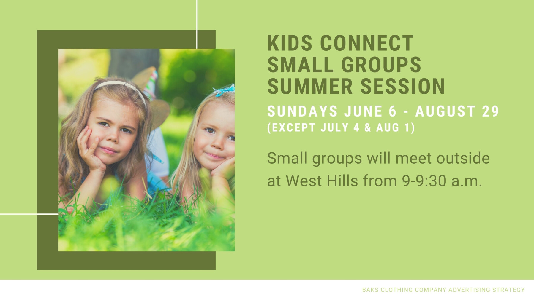 Kids Connect Small Groups Summer Session
